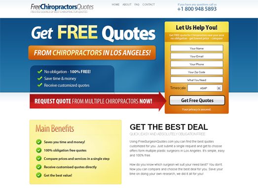 Chiropractors HTML PSD Template Edition 1