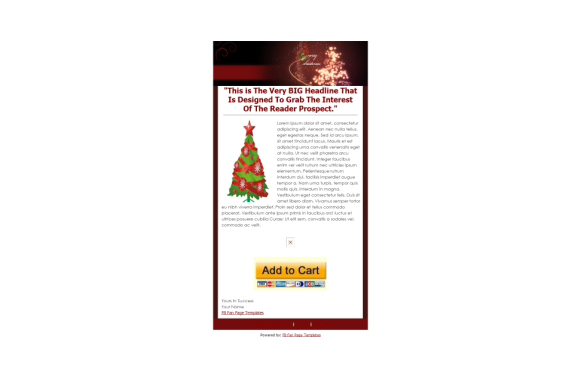 Christmas Facebook Fanpage and PSD Template v3