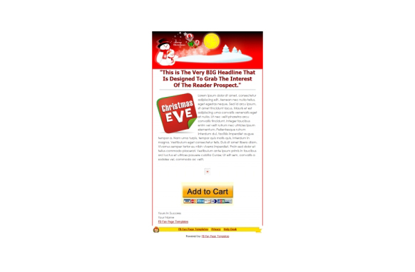 Christmas Facebook Fanpage and PSD Template v4