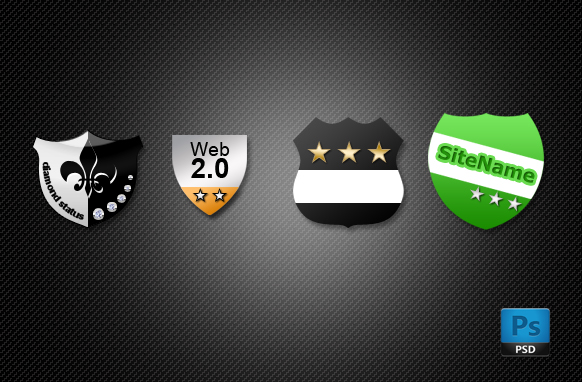 4 Almightly Shields PSD and PNG Image Pack