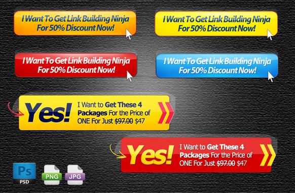 6 OTO Offer PSD PNG JPG Buttons