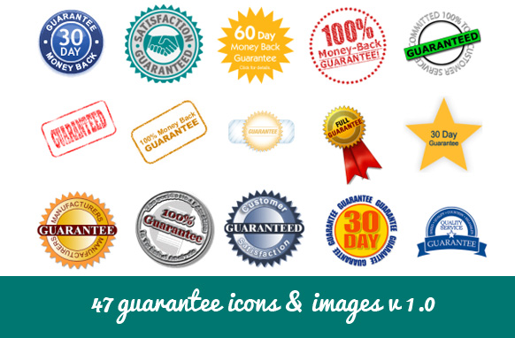 47 Guarantee Icons & Images v1.0