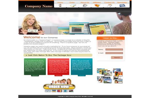 Company HTML PSD Template Edition 2