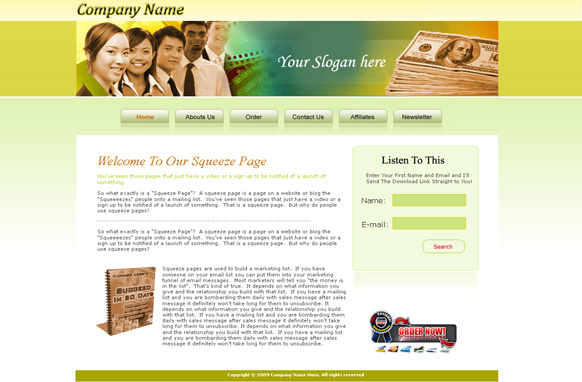 Company HTML PSD Template Edition 3