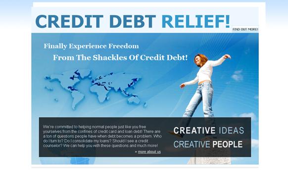 Credit Dedt Relief HTML PSD Template