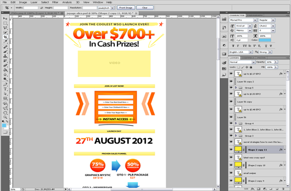 Amazing Instant Cash PSD Minisite Template