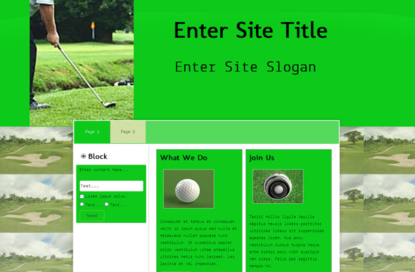 Green Golf WP Theme Edition 1