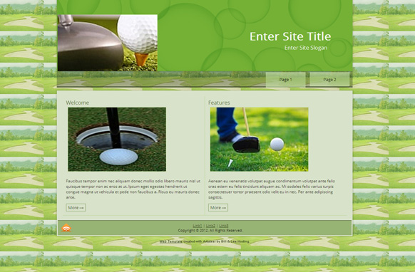 Green Golf WP Theme Edition 2