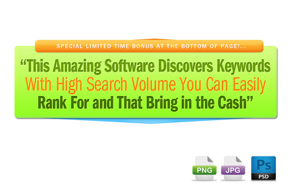 Awesome Marketing PSD Sales Headline Edition 6