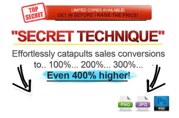 Awesome Marketing PSD Sales Headline Edition 7