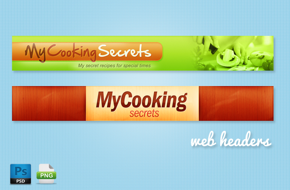 Cooking Web Headers in PSD Format