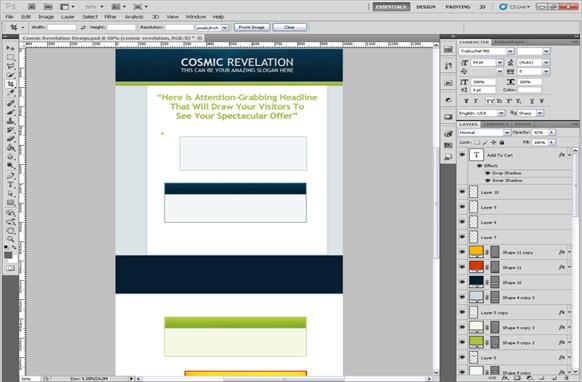 Cosmic Revelation PSD Salespage Template