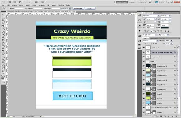 Crazy Weirdo PSD Salespage Template