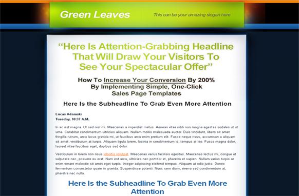 Green Leaves PSD Theme