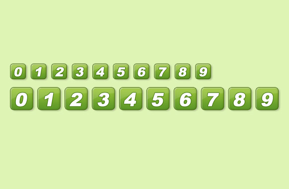Green Pagination Set PSD