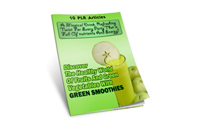 Green Smoothies PLR Articles