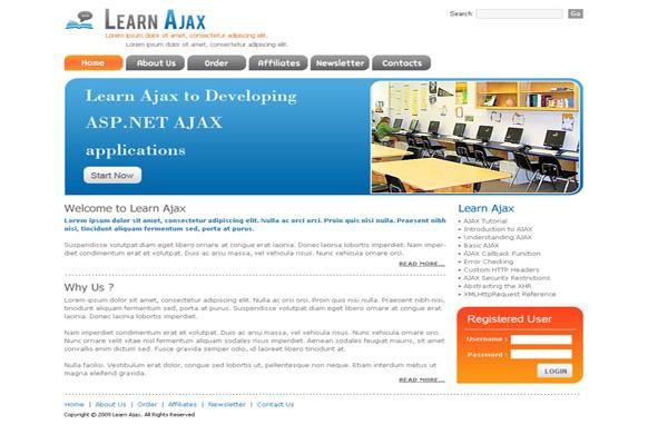 Learn Ajax HTML PSD Template