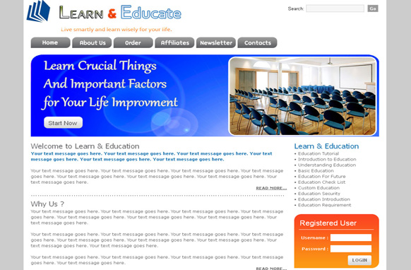 Learn And Education HTML PSD Template