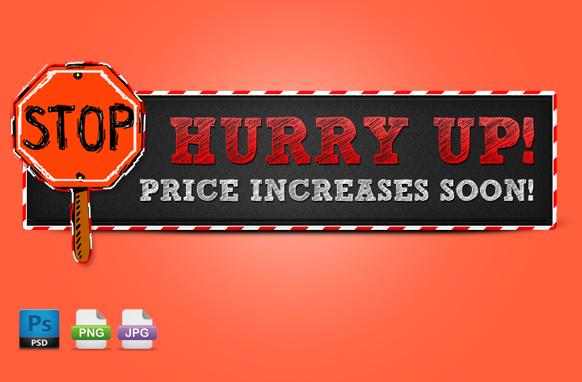 Hurry Up PSD PNG JPG Header Edition 5