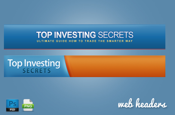 Investing Web Headers in PSD Format