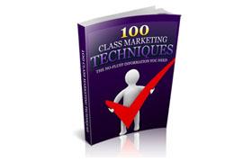 100 Class Marketing Techniques