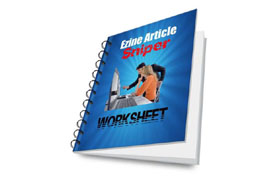 Ezine Article Sniper Worksheet