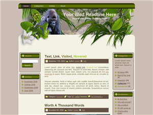 Wildlife WP Template Edition 1