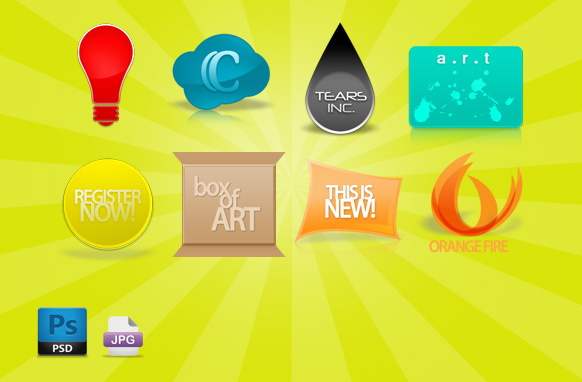 Modern 3D Style PSD Icons & Clipart