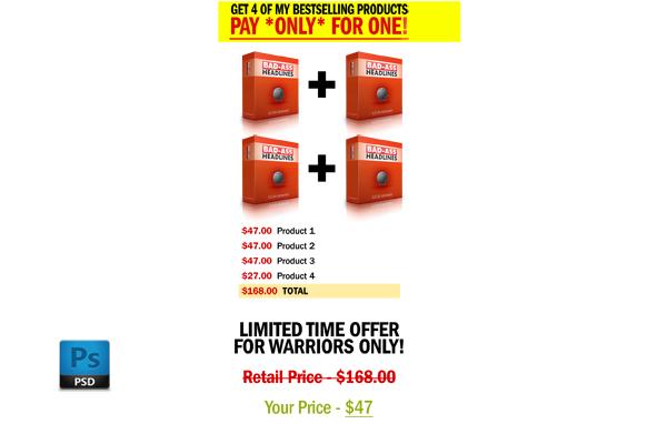 OTO Bundle Offer PSD Graphics