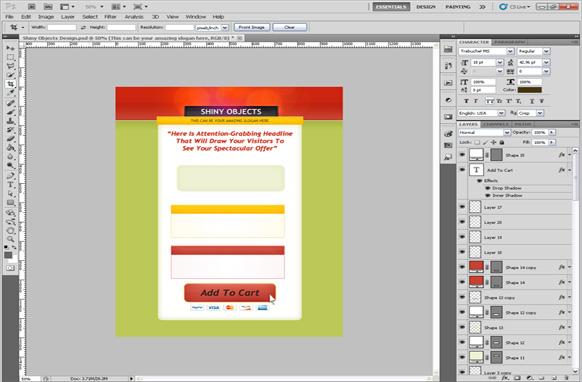 Shiny Objects PSD Salespage Template