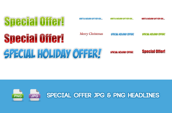 Special Offer JPG and PNG Headlines