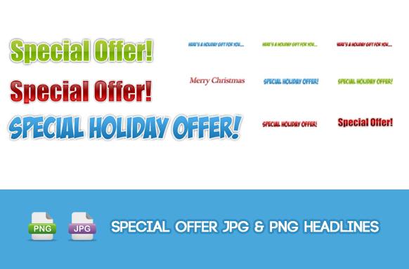 Special Offer JPG & PNG Headlines