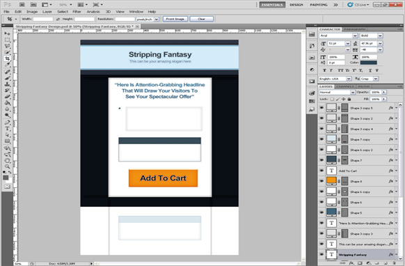Stripping Fantasy PSD Salespage Template