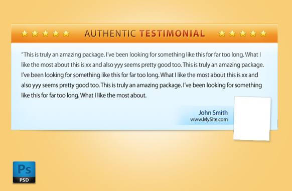 Testimonial Box In PSD Format Edition 1