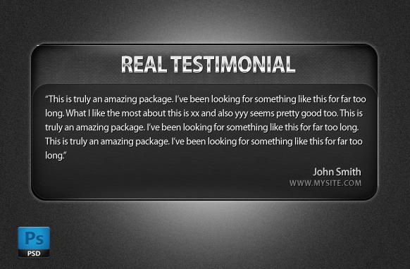 Testimonial Box In PSD Format Edition 3