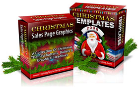 Christmas Templates and Sale Page Graphics