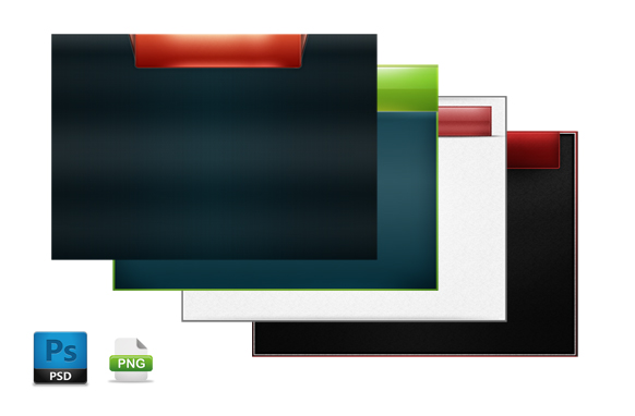 4 PSD and PNG Video Background Files