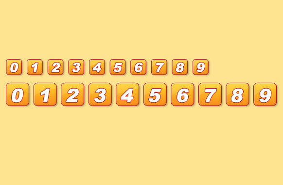 Yellow Pagination Set PSD GIF