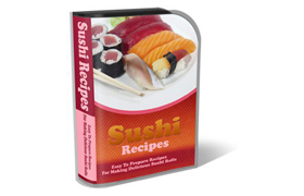 WP Theme and HTML Template Sushi Recipe
