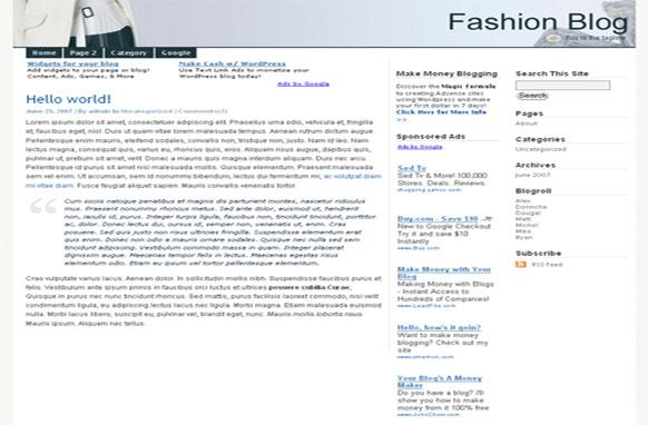 Super Adsense Wordpress Theme Fashion
