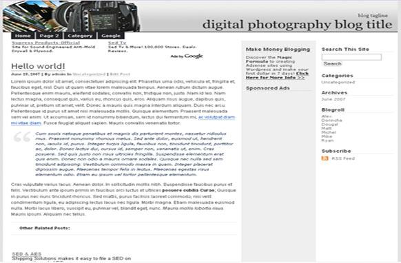 Super Adsense WordPress Theme Photography