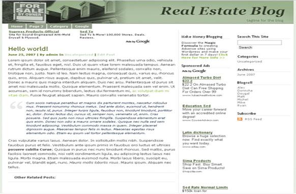 Super Adsense Wordpress Theme Real Estate