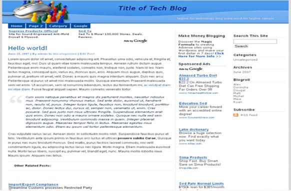 Super Adsense WordPress Theme Tech