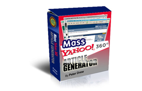 Mass Yahoo 360 Article Generator
