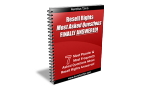 Resell Rights Most Asked Questions Finally Answered