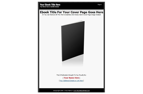 Ebook PSD PDF Template Style 1