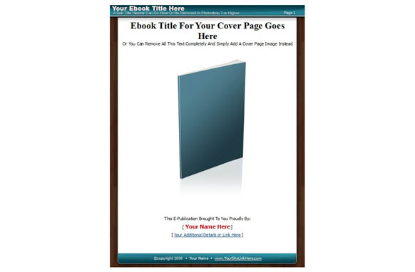 Ebook PSD PDF Template Style 4