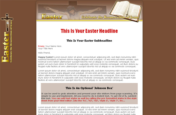 Easter HTML Template Edition 1