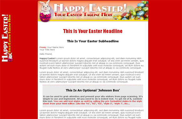 Easter HTML Template Edition 2