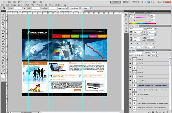 Business PSD Template Edition 4
